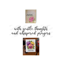 Impression Obsession Cling Stamp - Gentle Thoughts 13767-CLG