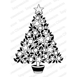 Impression Obsession Cling Stamp - Star Tree Solid Leaves 16302-CLG