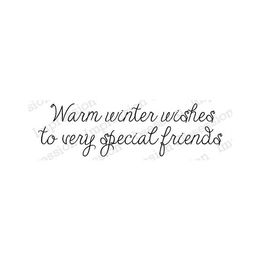Impression Obsession Cling Stamp - Warm Winter Wishes 20604-CLG