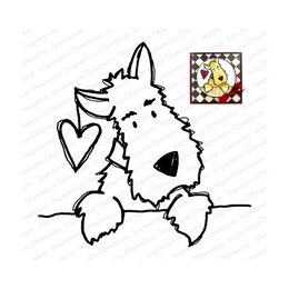 Impression Obsession Cling Stamp - Darby Love 21162-CLG