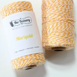 The Twinery - Marigold Deep Golden Yellow Twine 240-yard Spool