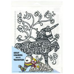 Giraffe Crafts - Iron On DIY Colouring Transfer for T-Shirts - UNICORN 28102