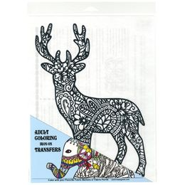 Giraffe Crafts - Iron On DIY Colouring Transfer for T-Shirts - DEER 28107