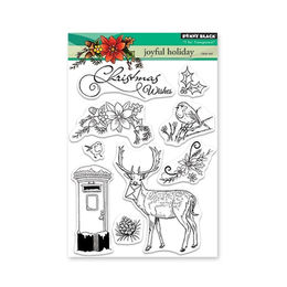 Penny Black Clear Stamp - Joyful Holiday 1.5x3.0in 30-497