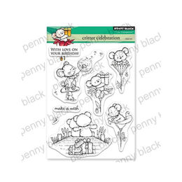Penny Black Clear Stamp - Critter Celebration 30-542