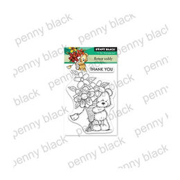 Penny Black Clear Stamp - Flower Teddy (Mini) 30-543