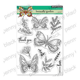 Penny Black Clear Stamp - Butterfly Garden 30-558