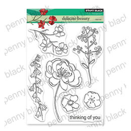Penny Black Clear Stamp - Delicate Beauty 30-559