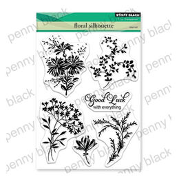 Penny Black Clear Stamp - Floral Silhouette 30-563