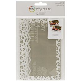 "Project Life - 4""X6"" Photo Overlays - Set #4 12/Pkg"