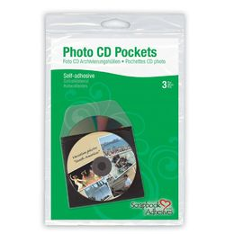 3L Adhesive Photo CD Pockets - 5x5 (3pc) 3L01620