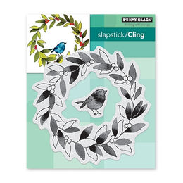 Penny Black Cling Stamp - Tweet Wreath 4.87x5.42 in 40-630