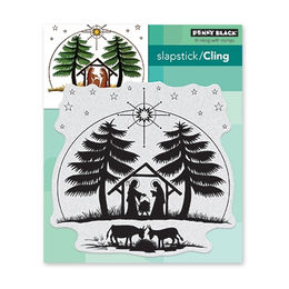 Penny Black Cling Stamp - Nativity 4.5x4.5in 40-633