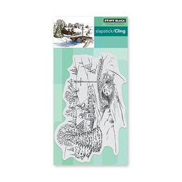 Penny Black Cling Stamp - Peaceful Village 6x4in 40-635