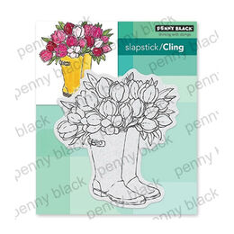 Penny Black Cling Stamp - Blooming Boots 40-666