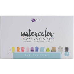PRIMA MARKETING Watercolor Confections Watercolor Pans 12/Pkg - The Classics
