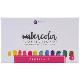 Prima Watercolor Confections Watercolor Pans 12/Pkg - Tropicals