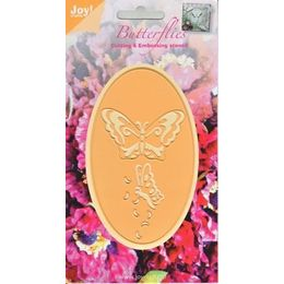Joy Crafts Dies - Butterflies Oval - 6002-0275