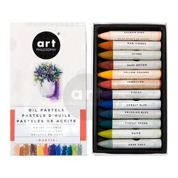 Prima Art Philosophy Water Soluble Oil Pastels 12/Pkg - Rustic 631932