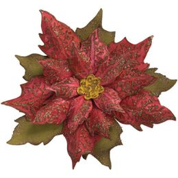Sizzix Bigz Die W/Texture Fades By Tim Holtz - LAYERED TATTERED POINSETTIA 662170