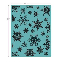 Sizzix Texture Fades A2 Embossing Folder - Simple Snowflakes