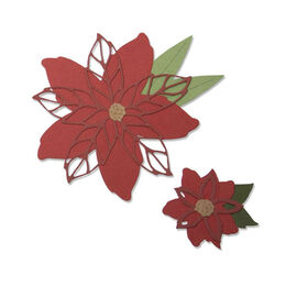 Sizzix Thinlits Dies Set By Lisa Jones (8Pk) - Poinsettia 663464