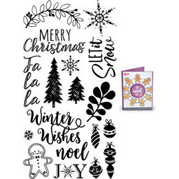 Sizzix Clear Stamps - Winter Phrases 663614