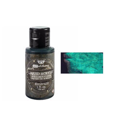 Finnabair Art Alchemy Liquid Acrylic Paint 1 Fluid Oz - Emerald