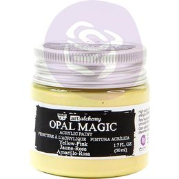 Finnabair Art Alchemy Opal Magic Acrylic Paint 1.7 Fl Oz - Yellow/Pink