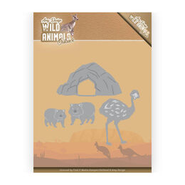 Amy Design Wild Animals Outback Dies - Emu and Wombat ADD10207