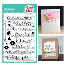 "Avery Elle Clear Stamp Set 4""X6"" - Oh Happy Day AE1319"