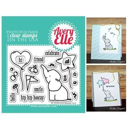 "Avery Elle Clear Stamp Set 4""X3"" - Ellie AE1509"