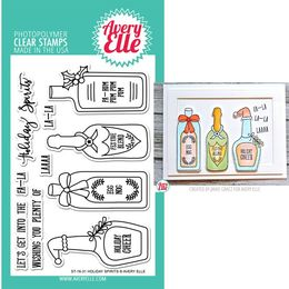 Avery Elle Clear Stamp - Holiday Spirits AE1631