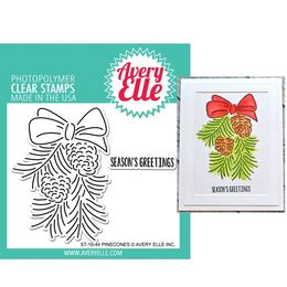 Avery Elle Clear Stamp - Pinecones AE1644