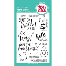 Avery Elle Clear Stamp - No Way! AE1719