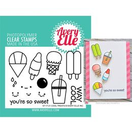 Avery Elle Clear Stamp - Cool Treats AE1721