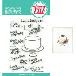 Avery Elle Clear Stamp - Cake For All AE1902