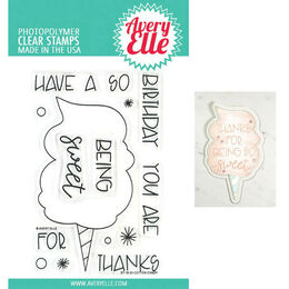 Avery Elle Clear Stamp - Cotton Candy AE1903