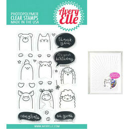 Avery Elle Clear Stamp - Peek-A-Boo Pets AE1908