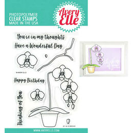 Avery Elle Clear Stamp - Orchid AE1912