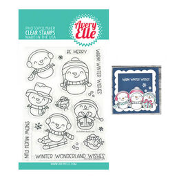 Avery Elle Clear Stamp - Snow Fun AE1931