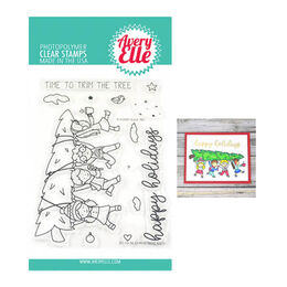 Avery Elle Clear Stamp - Christmas Kids AE1936