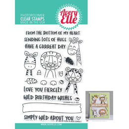 Avery Elle Clear Stamp - Peek-A-Boo Jungle AE2001