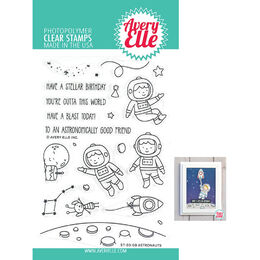 Avery Elle Clear Stamp - Astronauts AE2008