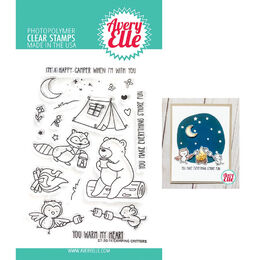 Avery Elle Clear Stamp - Camping Critters AE2014