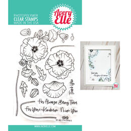 Avery Elle Clear Stamp - Poppies AE2017