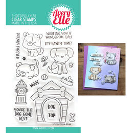 Avery Elle Clear Stamp - Dog-gone AE2022