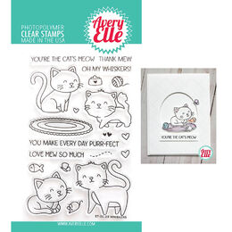 Avery Elle Clear Stamp - Whiskers AE2023