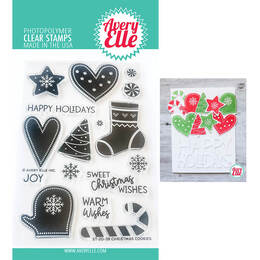 Avery Elle Clear Stamp - Christmas Cookies AE2039