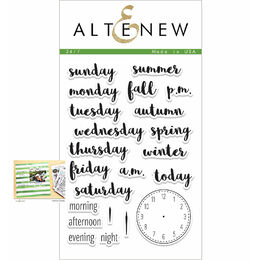 Altenew Clear Stamps - 24/7 Stamp Set